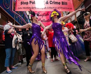 Prostiutes march through Soho to give thanks