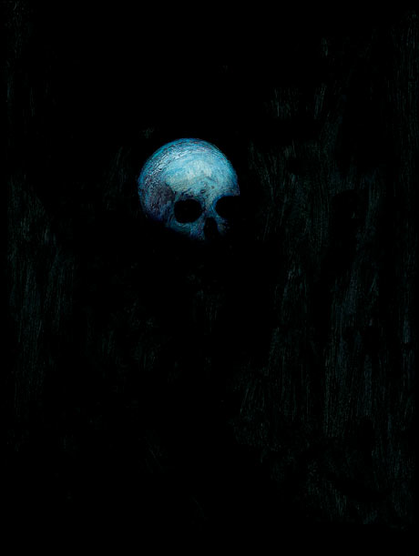 Hirst's Blue skull