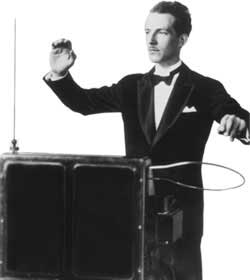 Leon Theremin playing the Theremin