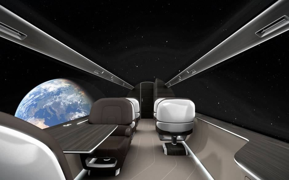Windowless plane in space!