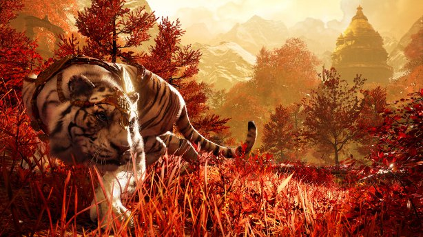 When adventuring in Shangri-La you get a pet tiger. Called Mr Fluffington (joke).